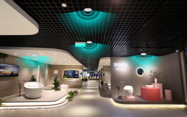 Showroom dùng cảm biến vi sóng vô cùng tiện dụng