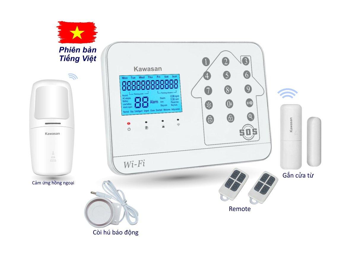Hệ thống báo động 262T Wifi Sim