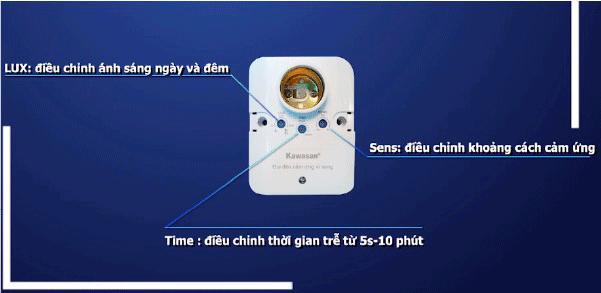Chức năng nút chỉnh đui đèn cảm ứng chuyển động