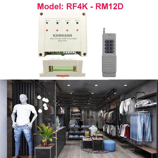 Công tắc điều khiển từ xa RF4K-RM12D