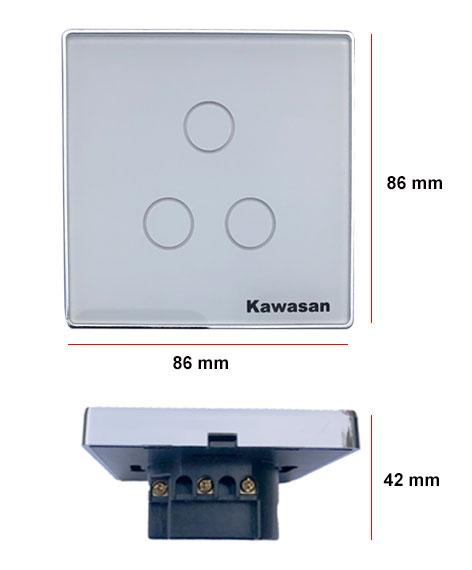 Công tắc wifi âm tường có kích thước nhỏ gọn