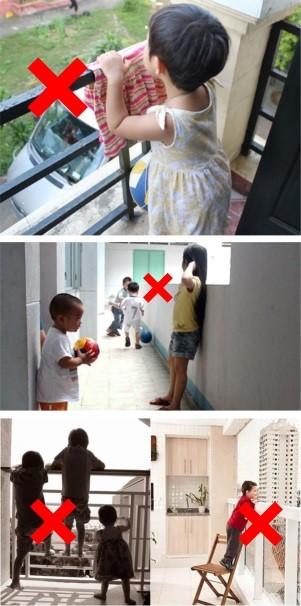 Bảo Vệ Trẻ Em Khi Ra Ban Công Chơi